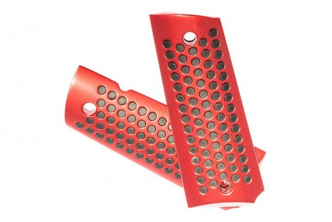 Griffschalen Aluminium, Rot